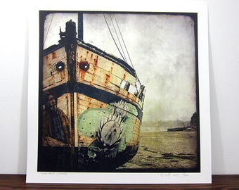 Boat #1-Brittany - expo 30x30cm print - signed and numbered