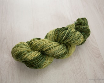 "Hand Dyed Yarn - ""Avocado Smash"" Merino Sock, 4ply, Indie Dyed Yarn, 100g Skein"