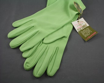 Green Vintage Women's Gloves New With Tags Kayser 1960s One Size