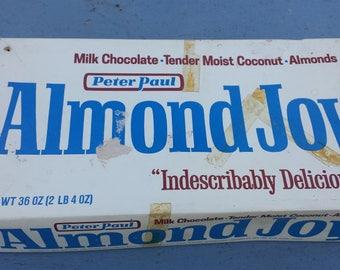 Vintage 10 Cent Almond Joy Candy Bar Retail Store Display Box Farm House Deco