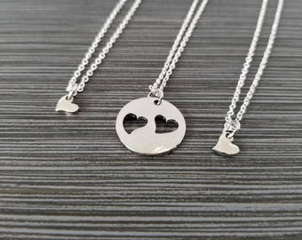 Three Mother Daughter Necklaces - Mothers Day Necklace - Personalized Necklace - Custom Initial Necklace - Mother Daughter Gift Mother Son