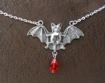 Tibetan Silver bat necklace