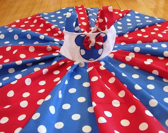 custom boutique disney minnie mouse inspired 4th of july twirl dress 2-6