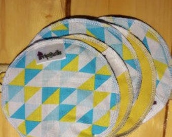 Yellow and blue-yellow Mondrian washcloth