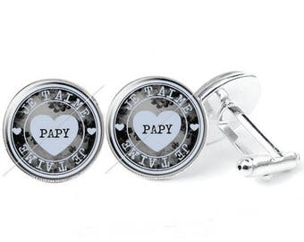 Pattern c40 - glass cabochon cufflinks