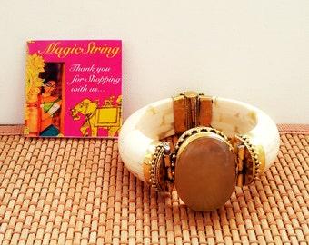 25% OFF SALE Tribal Bracelet/Agate Bracelet/Bone Bracelet/Gemstone Bracelet/Boho Bracelet/Gypsy Bracelet/Brass Bracelet