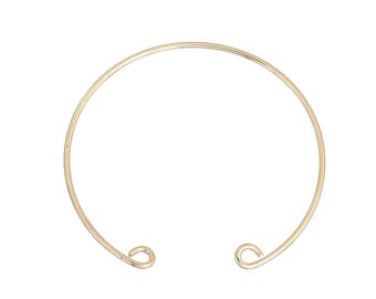 1 semi Bangle cuff bracelet open Golden 19.5 cm