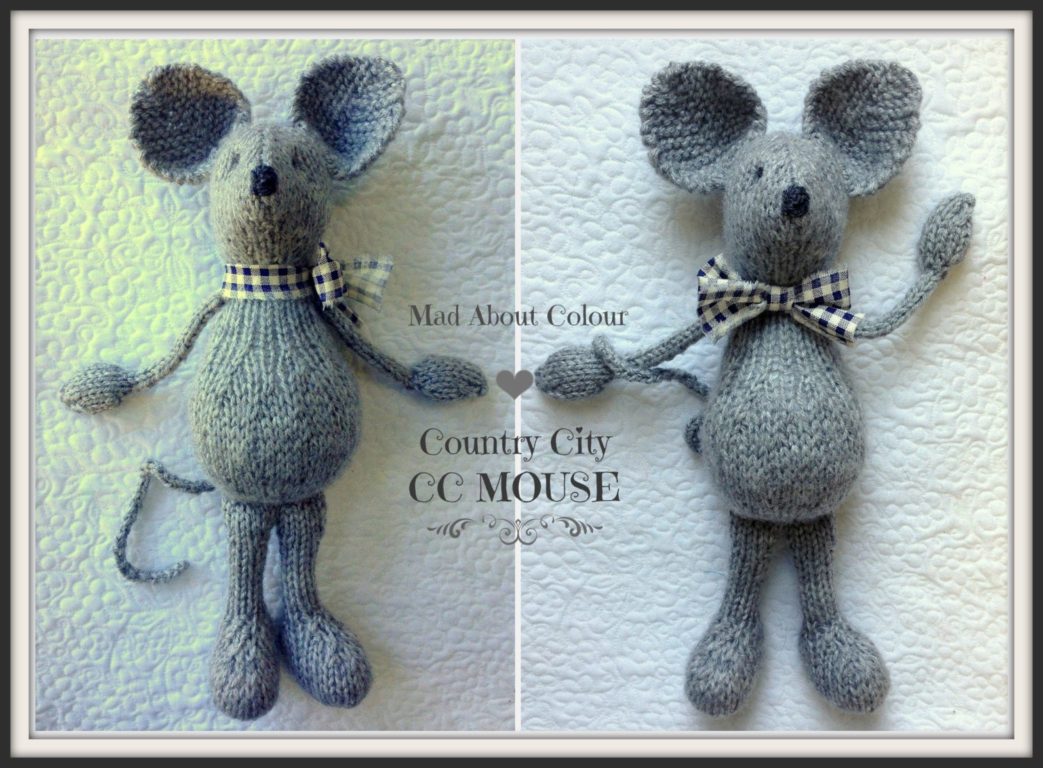 MoUSE KNiTTING PaTTERN Soft Toy PDF PaTTeRN ONLY Heirloom Child ...