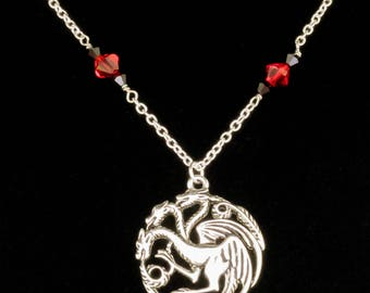 3 Dragon Necklace inspired by House Targaryen from Game of Thrones