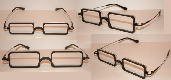 Anime rounded closed rectangular frame cosplay costume glasses