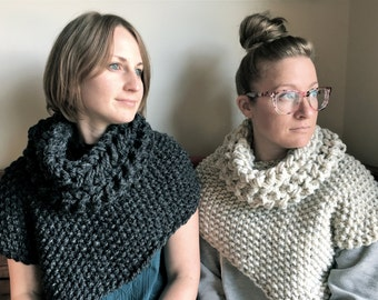 Sweater/ Poncho with Cowl