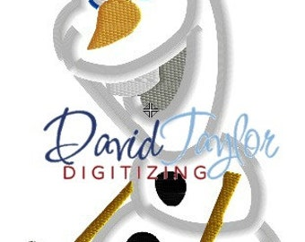 Freezing Snowman on Skates - Embroidery Machine Design - Applique - Instant Download - David Taylor Digitizing