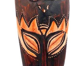 Mask African ethnic turtle OWL elephant Buddha gecko deco tribal African Asian