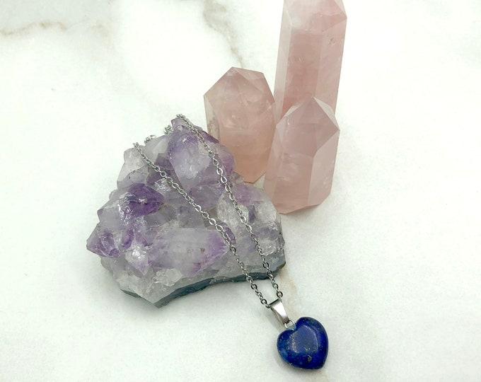 MALINA: lapis stone heart pendant