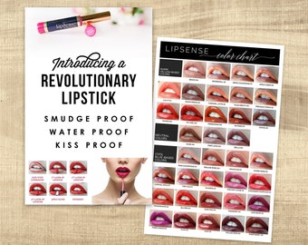LipSense Party Pack - Display posters, Color Charts, modern branding, LipSense Event posters