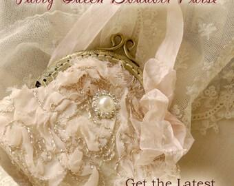 Boudoir Fairy Larger Purse 8cm across  purse  Handmade by Charlotte and the fairies 5cm across