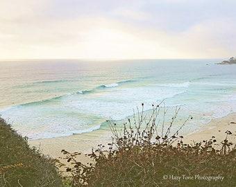 Surf Art, California Beach Photography Print, Aerial Photo, Bedroom Wall Decor, Coastal Seascape Art, Ocean Print, Beach Picture, Surf Decor