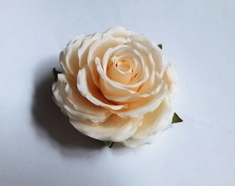 """Silk flower brooch """"Rose"""""""