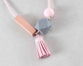 Nala Tassel Necklace | Pink