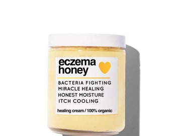 Eczema Honey All Natural Moisturizing Healing Cream, Relief for Eczema, Psoriasis, Dry Skin, Baby Eczema, Super Effective Spot Treatment