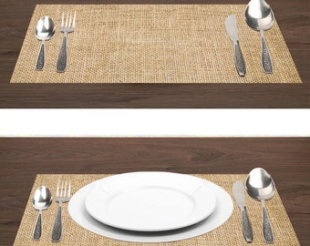 """Burlap Paper Placemats 