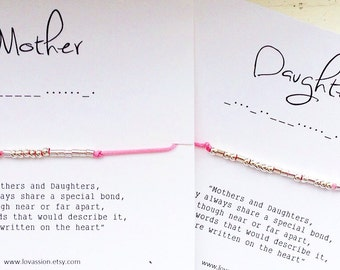 MOTHER/DAUGHTER - Morse Code Bracelet Set
