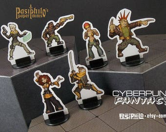 Cyberpunk-Fantasy Gangers 28mm Role-playing Game Miniatures