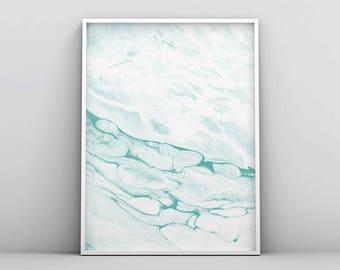 Mint Green Art, Mint Green Wall Art, Green and Grey Print, Abstract Printable Art, Watercolor Print, Simple Print, Minimalist Poster Decor