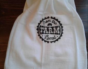 Country tea towel