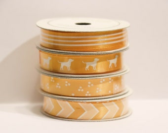 yellow ribbon, ribbon set, ribbon, yellow dotted ribbon, zig zag ribbon, stripped ribbon, yellow, yellow chevron ribbon, bow making