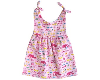 Baby/Toddler Sundress with ties Age 6mths,1yr and 2yrs      PDF pattern simple sundress pattern Pdf sundress Easy dress pattern