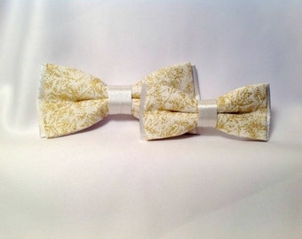 Bowtie duet white and gold