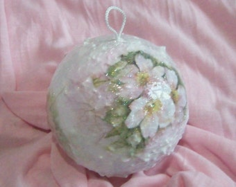 Christmas ball ornament with rose