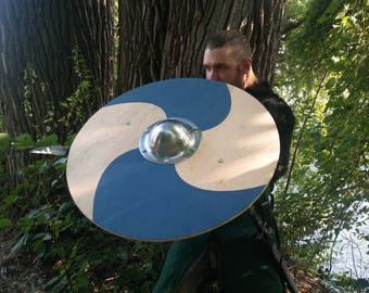 "Viking round Shield, 28"" Basic Norse Round Shield"