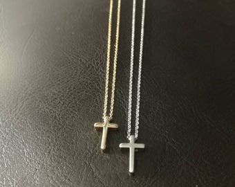 Tiny gold cross necklace.minimalist necklace, bridal jewelry, wedding, bridesmaid gift, christian necklace, christmas gift