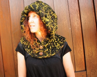 Dragon Knitted Hood