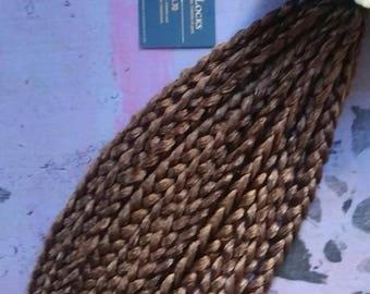 Repositionable braids: medium brown