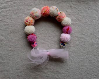 PomPom Crown, 100% Hand-dyed Wool