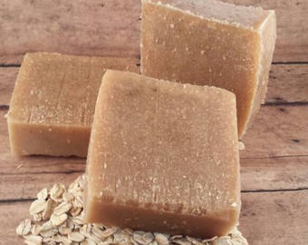 Oatmeal and Honey Soap, Honey Soap, Oatmeal Soap, Face Soap, Artisan Soap, Bar Soap, Handmade Soap, All Natural Bar Soap, Exfoliating Soap