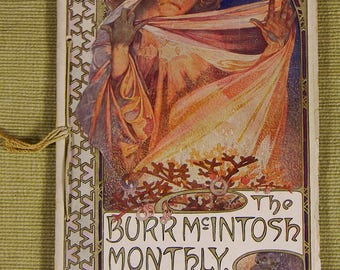 Vintage 1907 Mucha Cover (Complete Magazine) The Burr McIntosh Monthly  *Note: See Video in Description