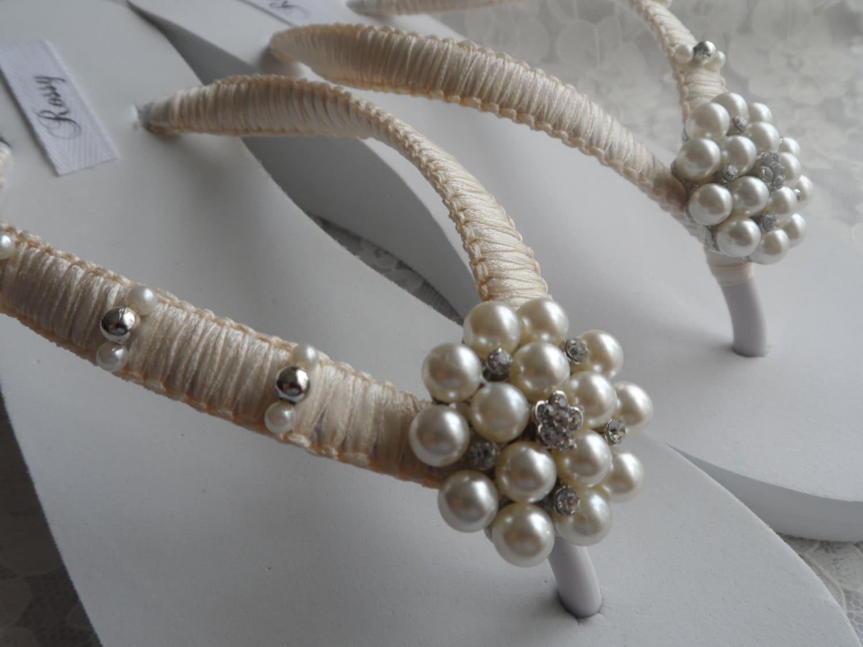 keil braut flip flops hochzeit strass perlen flip flops. Black Bedroom Furniture Sets. Home Design Ideas
