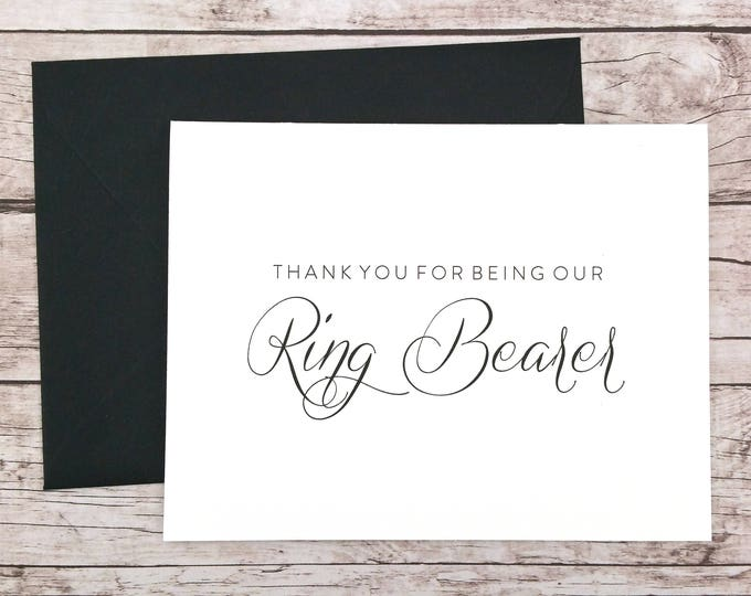 Thank You For Being Our Ring Bearer Card (FPS0058)