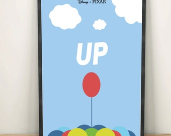Up Disney Pixar Minimalist Poster