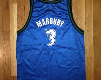 vintage stephon marbury minnesota timberwolves champion jersey deadstock NWT 90s made in USA