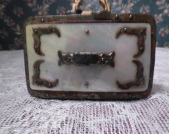 Antique French mother of pearl change purse