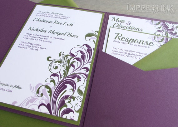Flourish Wedding Invitations
