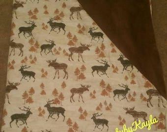 Woodland Animal Minky/Flannel blanket
