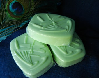 sparkling cucumber mint scented goat's milk soap green