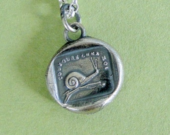 Always at home...... antique wax seal pendant, sterling silver