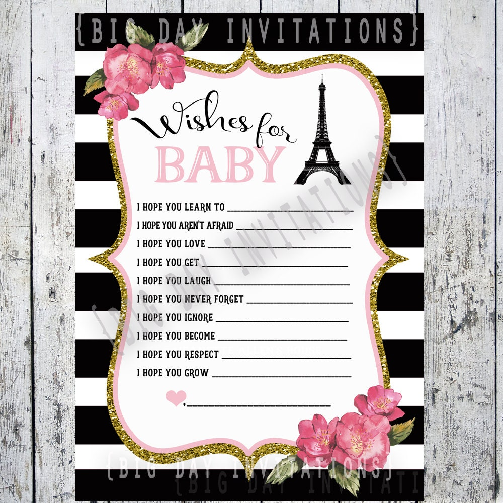 Paris french baby shower game wishes for baby bebe zoom filmwisefo
